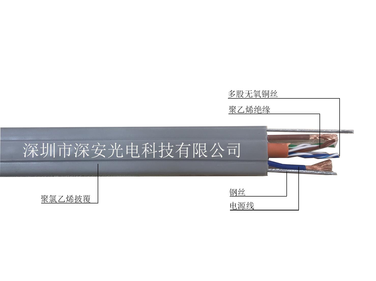 双钢丝带电源网络电梯线